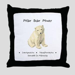 Polar Bear Animal Medicine Gifts Throw Pillow