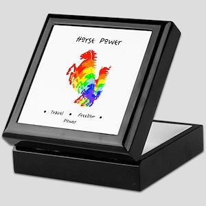 Rainbow Horse Sacred Totem Power Keepsake Box