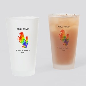 Rainbow Horse Sacred Totem Power Drinking Glass
