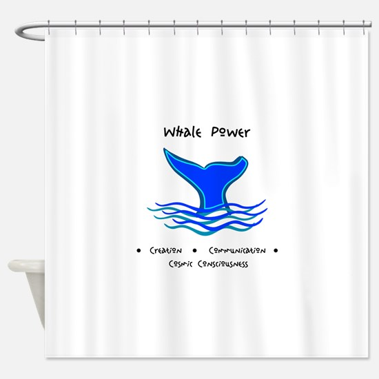 Whale Tale Sacred Totem Power Gifts Shower Curtain