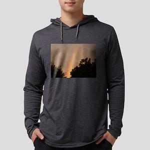 rainbow seen through oak tree Long Sleeve T-Shirt