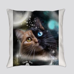 space kitty Everyday Pillow