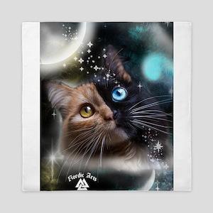 space kitty Queen Duvet