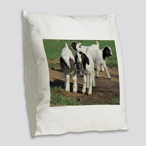 Happy Kids! Burlap Throw Pillow