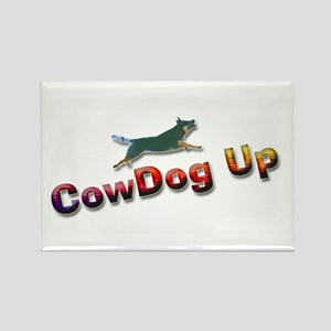 """AuCaDogs """"CowDog Up""""TM Rectangle Magnet (100 pack)"""