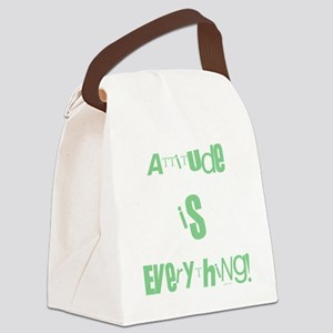 ATTITUDE IS EVERYTHING! Canvas Lunch Bag