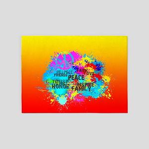Bright Burst of Colorful Inspiratio 5'x7'Area Rug