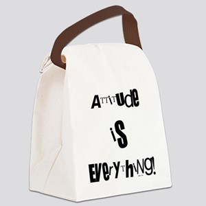 attitude black Canvas Lunch Bag