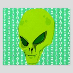 Green Alien Head King Duvet