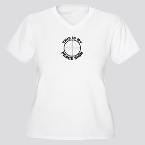 MILDOT Women's Plus Size V-Neck T-Shirt