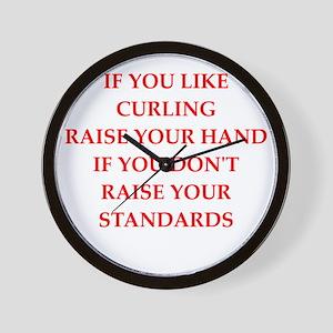 curling Wall Clock