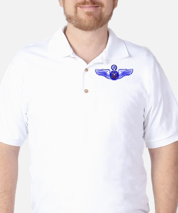 Chief Enlisted Crew Badge Golf Shirt