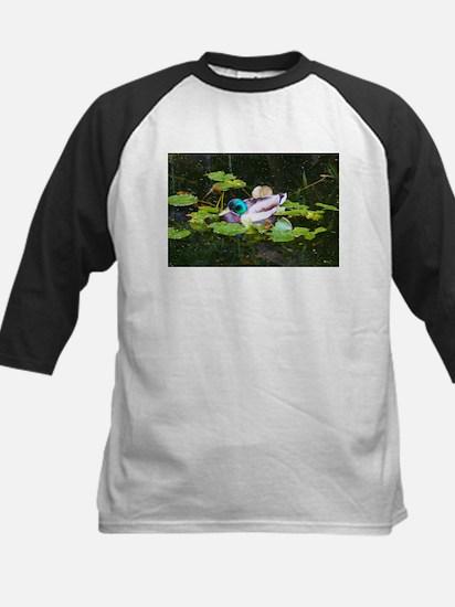 Mallard duck in a pond Baseball Jersey