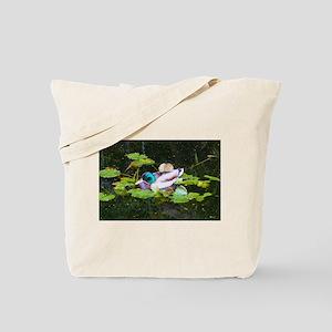 Mallard duck in a pond Tote Bag