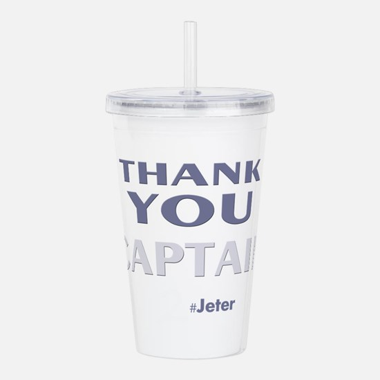 Thank You Captain Jete Acrylic Double-wall Tumbler