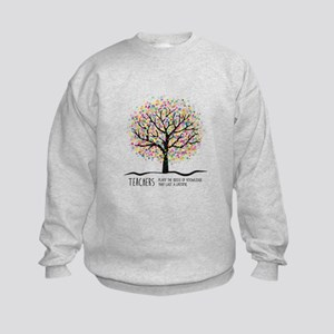 Teacher appreciation quote Kids Sweatshirt