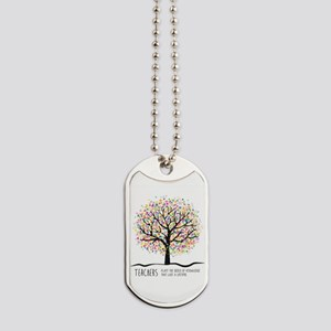 Teacher appreciation quote Dog Tags