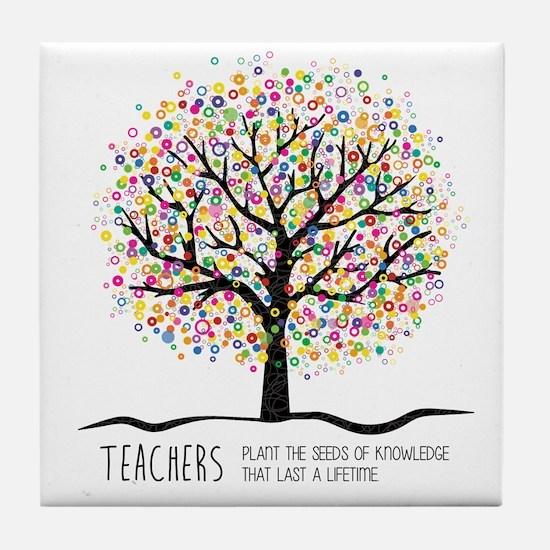 Teacher appreciation quote Tile Coaster