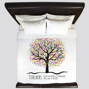 Teacher appreciation quote King Duvet