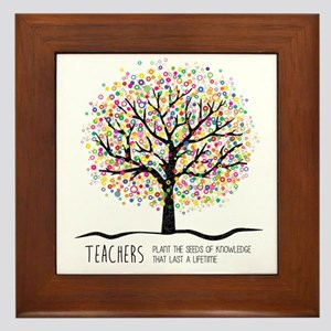 Teacher appreciation quote Framed Tile