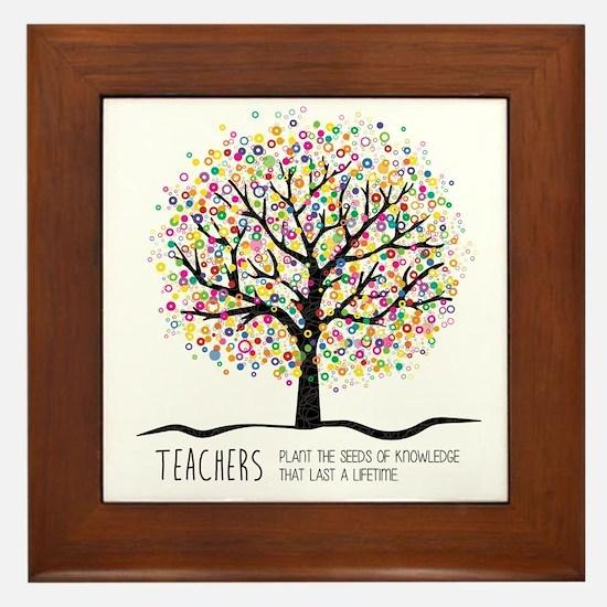 Teacher appreciation quote Framed Tile