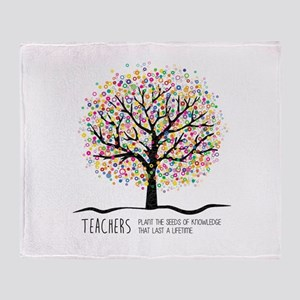 Teacher appreciation quote Throw Blanket