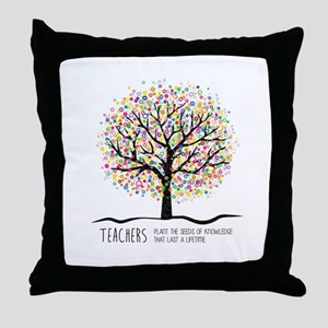 Teacher appreciation quote Throw Pillow