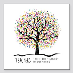 "Teacher appreciation quo Square Car Magnet 3"" x 3"""