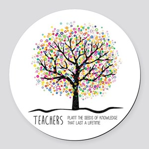 Teacher appreciation quote Round Car Magnet