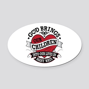 Adoption Tattoo Oval Car Magnet