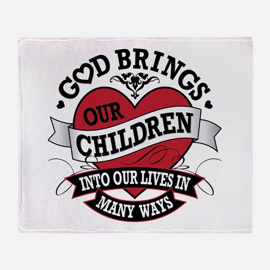 Adoption Tattoo Throw Blanket