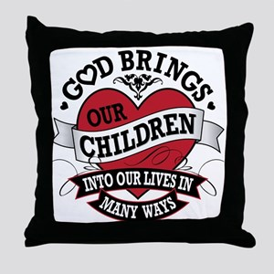 Adoption Tattoo Throw Pillow