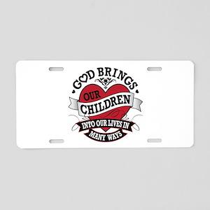 Adoption Tattoo Aluminum License Plate