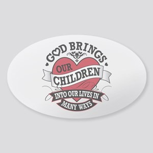 Adoption Tattoo Sticker (Oval)