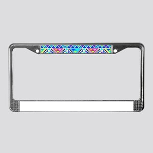 Colorful Tribal Geometric Patt License Plate Frame