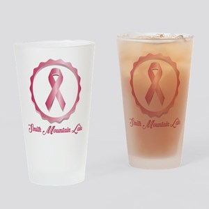 Smith Mountain Lake - Breast Cancer Drinking Glass