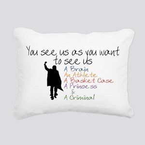 Want to see Us Rectangular Canvas Pillow