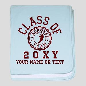 Class Of 20?? Girl Lacrosse baby blanket