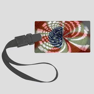 Patriotic Spin Large Luggage Tag