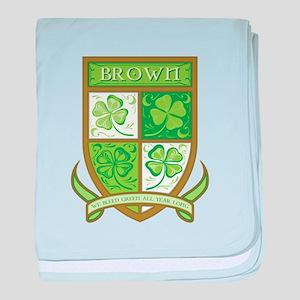 BROWN baby blanket