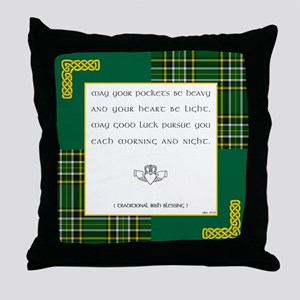 MAY YOUR POCKETS BE... Throw Pillow