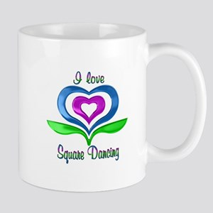 I Love Square Dancing Hearts Mug