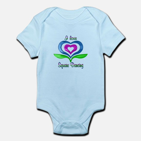 I Love Square Dancing Hearts Infant Bodysuit