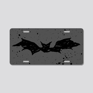 Scribble Bat Aluminum License Plate