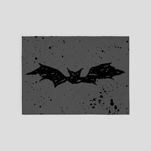 Scribble Bat 5'x7'Area Rug