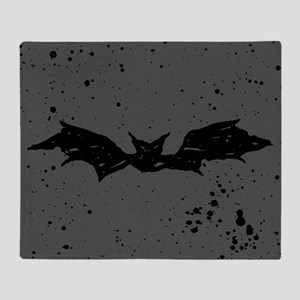 Scribble Bat Throw Blanket