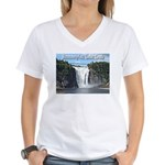 Montmorency Falls at Large Women's V-Neck T-Shirt