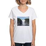 Montmorency Falls at Large Women's V-Neck T-Shirt