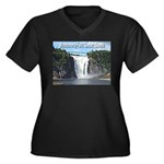 Montmorency Falls at Large Women's Plus Size V-Nec