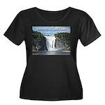 Montmorency Falls at Large Women's Plus Size Scoop